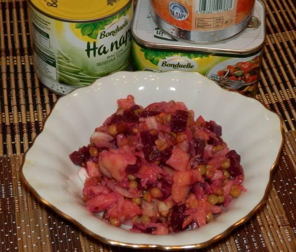 Салат винегрет: лучшие рецепты. винегрет классический с горошком: пошаговый рецепт. как приготовить вкусный праздничный винегрет с фасолью, квашеной, свежей, морской капустой, солеными и свежими огурцами, селедкой, грибами: рецепт