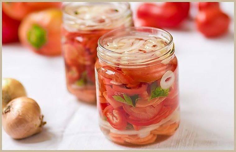 Салат с перцем, помидорами, луком и морковью на зиму пошаговый рецепт