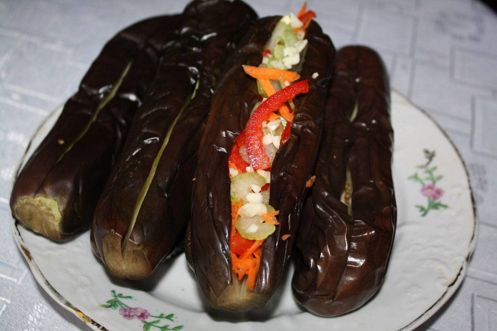 Баклажаны фаршированные овощами квашеные - рецепты квашеных баклажан с фото