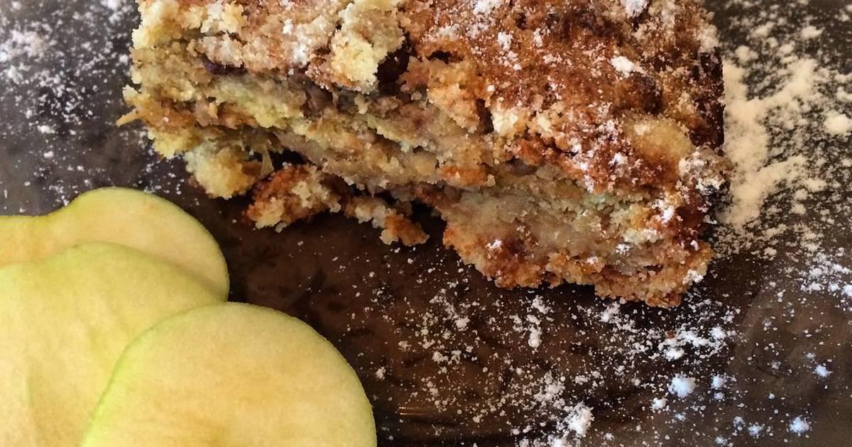 Овсяный пирог с яблоками и орехами – кулинарный рецепт