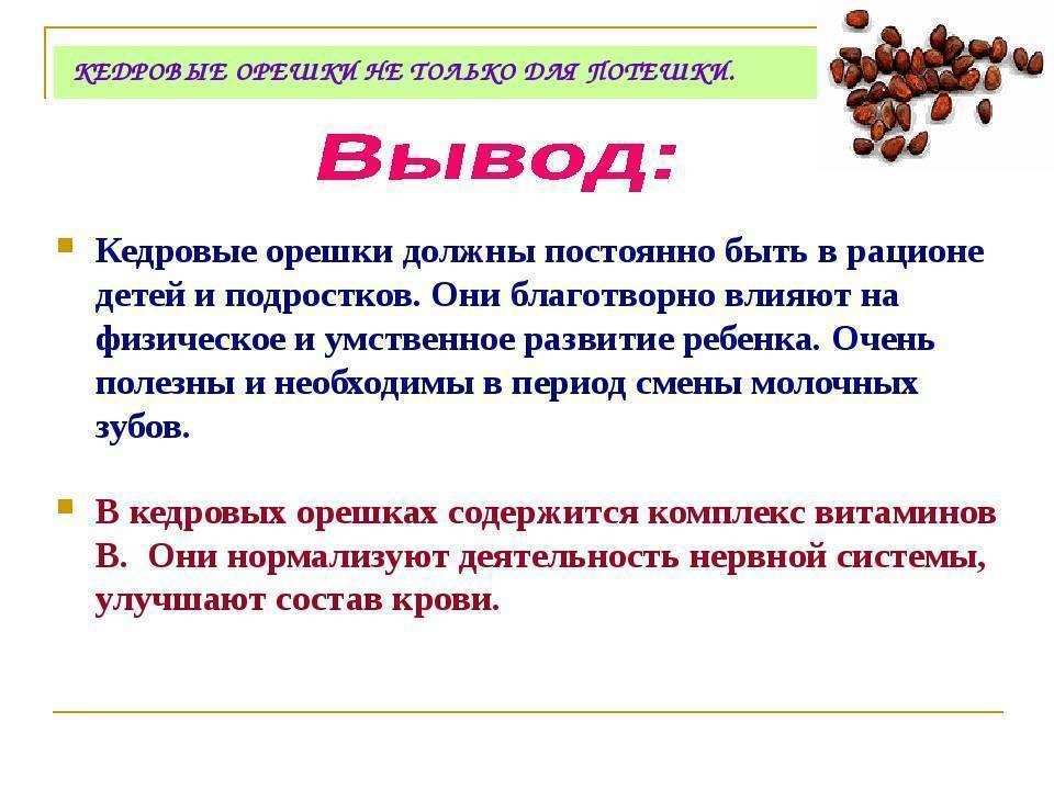 Кедровые орехи – польза и вред, противопоказания. применение масла, ядер, скорлупы