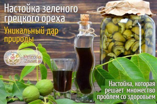 Рецепты витаминной настойки из зеленого грецкого ореха