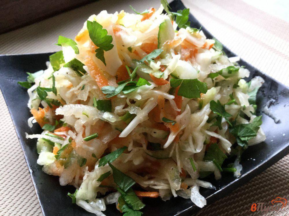 Салат из белокочанной капусты с редькой. салаты. традиции и мода