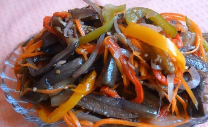 Баклажаны по-корейски - самые лучшие и вкусные рецепты быстрого приготовления