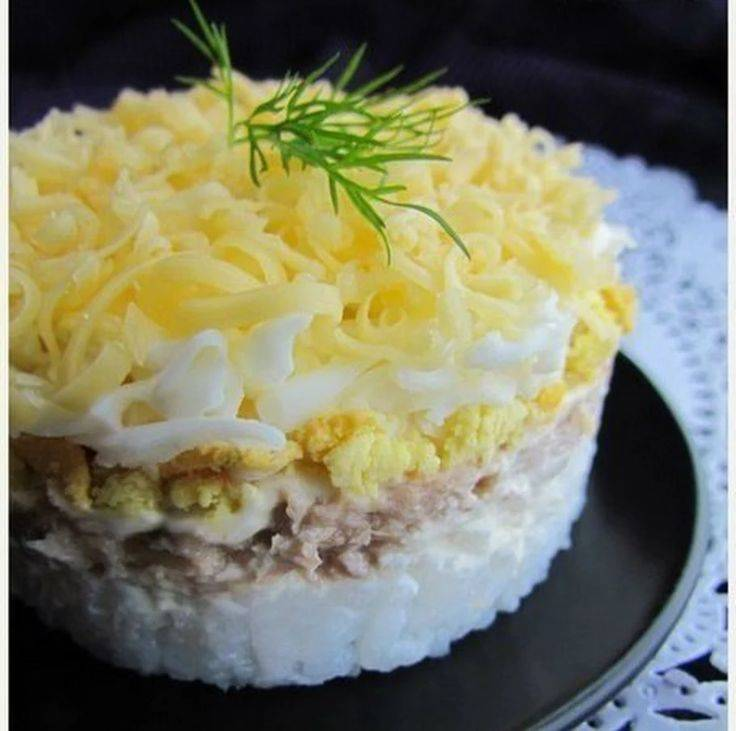 Салат мимоза с рыбными консервами классический – 10 пошаговых рецептов приготовления
