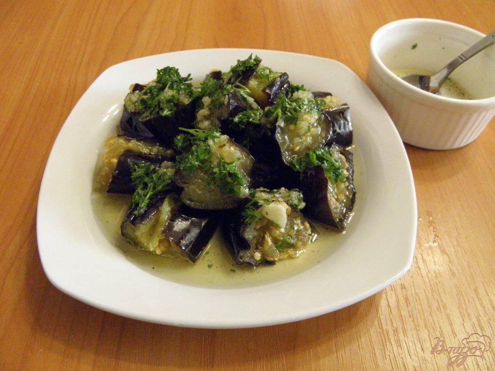 Маринованные баклажаны с чесноком и зеленью рецепты быстрого приготовления