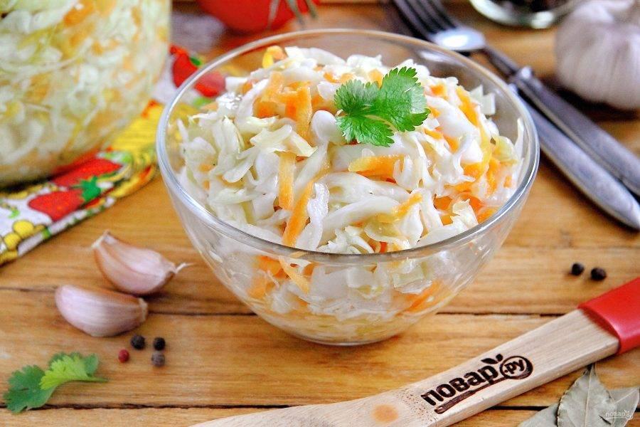 Маринованная капуста со свеклой быстрого приготовления – 7 пошаговых рецептов