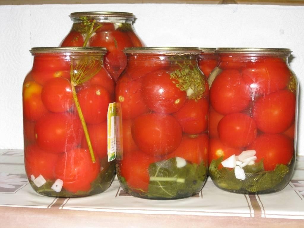 Консервация помидор с смородиной