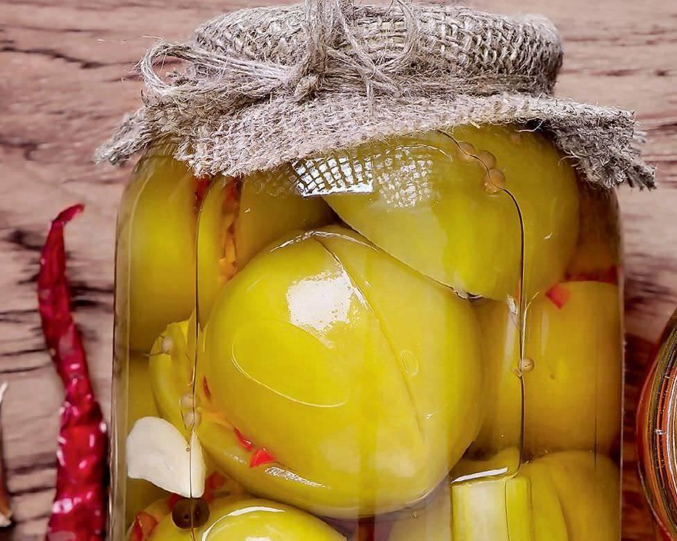 Зеленые помидоры на зиму - самый вкусный рецепт