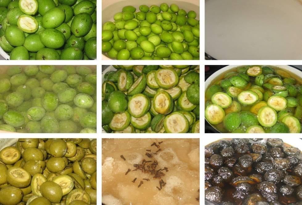 Польза и вред варенья из грецких зеленых орехов