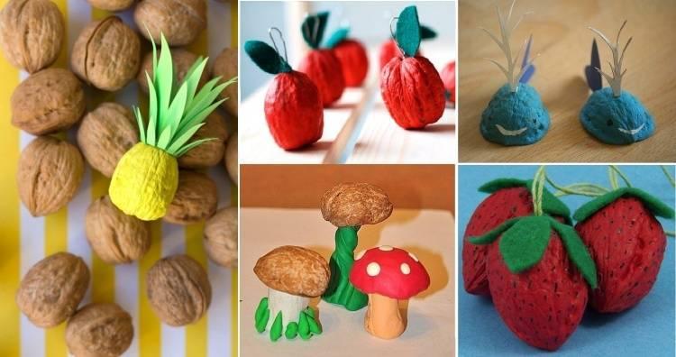 Поделки из грецких орехов: 125 фото, простые идеи, способы и подробное описание как своими руками сделать поделку