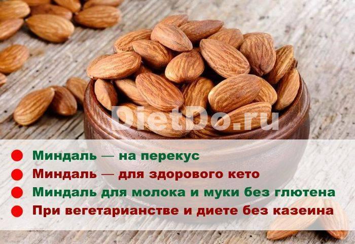 Миндаль - польза и вред для организма, состав и калорийность