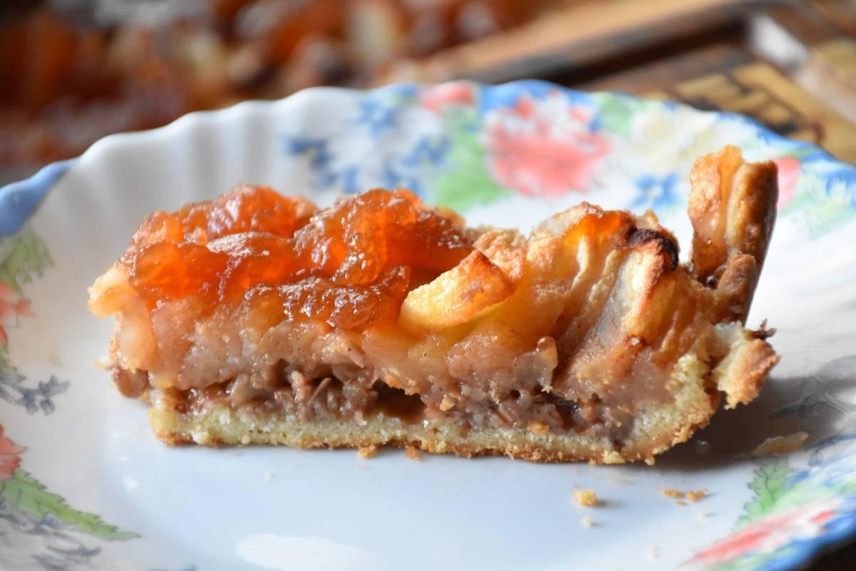 Яблочный пирог с орехами – кулинарный рецепт