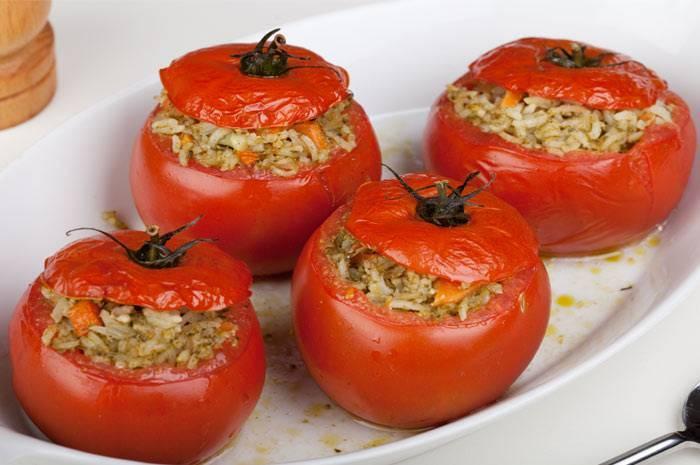 Рецепт помидоров, фаршированных рисом | меню недели