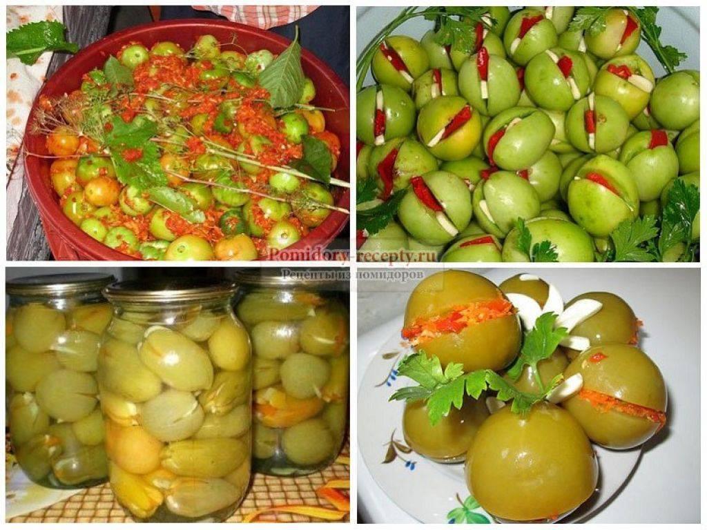 Консервируем вкусно зеленые помидоры
