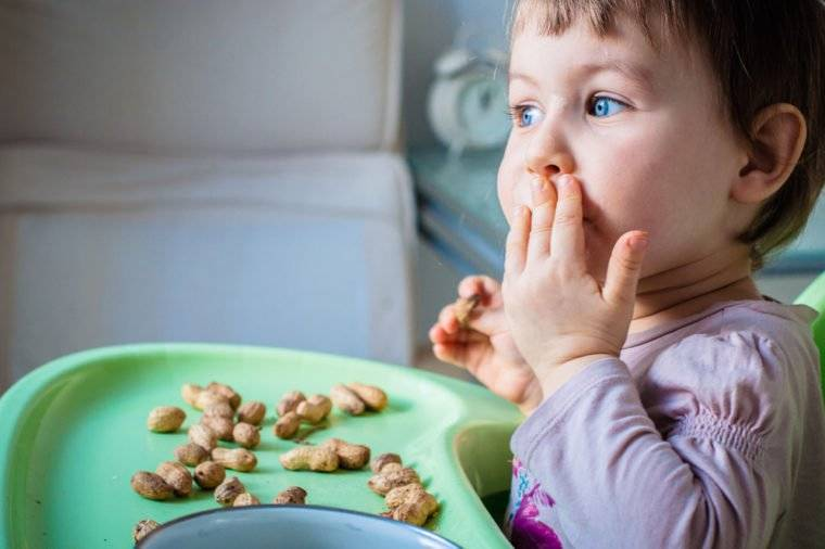 Возраст, когда детям можно орехи