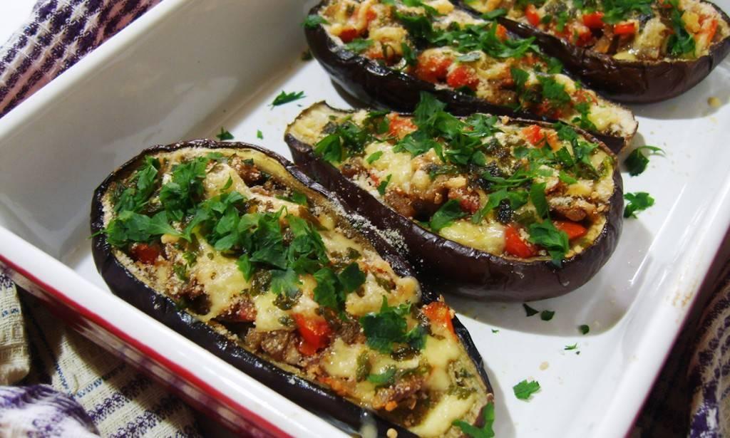 Фаршированные баклажаны в духовке - 5 вкусных рецептов
